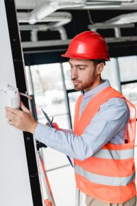 Installation of commercial fire alarm system