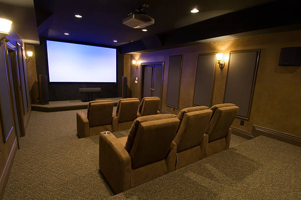 Large and luxurious home theater system