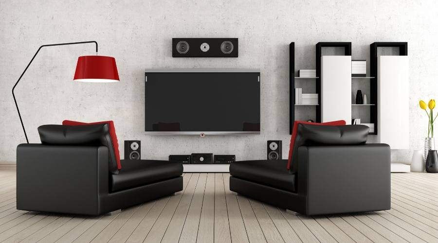 Two-person home theater seating setup is common nowadays.