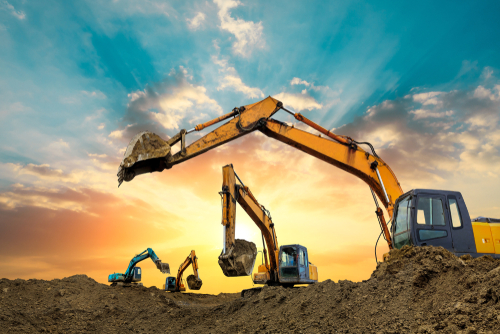 Long Reach Excavators have an extended arm attachment.