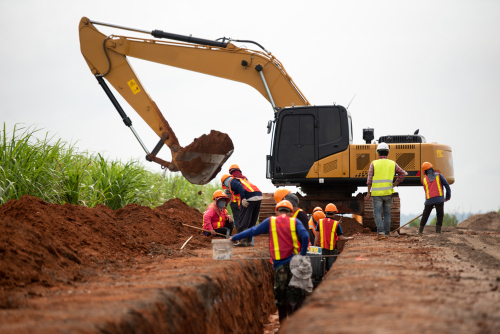 Local excavating contractors are trained to do the job.