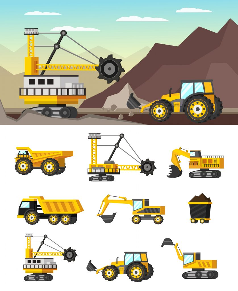Local excavating contractors use different kinds of machines.